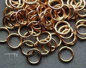 10pc gold plated extra large jump rings 12mm / 14ga open jump rings / high quality lead-free, nickel-free findings