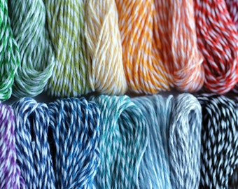 choose 3 colors of deluxe bakers twine, 45 total yards, 24 color choices, perfect for gift wrapping your creations