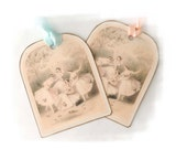 Paris Ballet Tags, Shabby Cottage Ballet, Ballerina Tags, Pale Pink Tags, Ballet Gift Tags