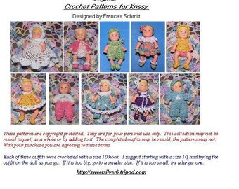 Crochet Pattern - 2.5 inch Krissy doll set 2