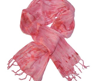 Cotton Scarf: Rosy Ripples