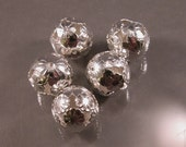 Iron Filigree Round Bead 16mm, silver color  (60) - custom listing for Sheree