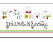 Friends And Family Iron-On Label