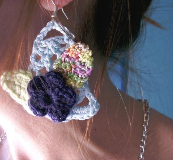 BLOSSOM  - Handmade Crochet Earrings