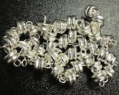 Silver Plated Magnetic Clasps - 6mm wide - 12 sets
