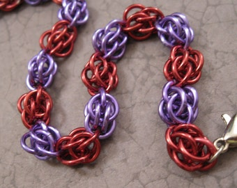 Red Hat Society - Chainmaille Bracelet