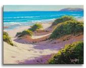 REALISTIC BEACH PAINTING Sand Dune seascape fine art by g.gercken