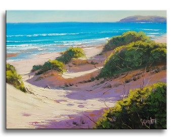 REALISTIC BEACH PAINTING Sand Dune seascape fine art by g.gercken