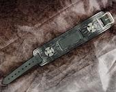 Leather Watch Cuff - The Iron Cross