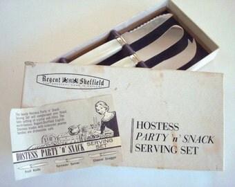 Vintage Regent Sheffield Hostess Party n Snack Serving Set