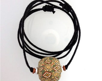 Lamp Work Glass Focal Bead Extraordinary Cane Work Known as a Viking Bead