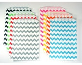 Chevron Middy Bitty Favor Bags (20) - 9 colors to choose from - Party Favor or Treat Bags