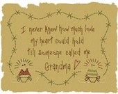 MACHINE EMBROIDERY-Someone Called Me Grandma--6x8-Colorwork/Motif-Instant Download