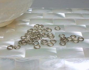 6mm 18g OPEN Antiqued Silver Plated Steel Jump Rings 30pcs Findings Jewelry Jewellery Craft Supplies