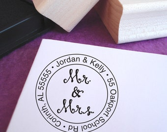 Mr. & Mrs. Customized Rubber Address Stamp