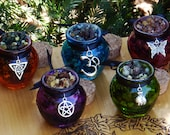 Honey Heartwood Resin Incense Pots . Pagan, Wicca, WItchcraft, Magic