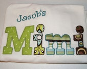 Womens Grandmother Applique Tshirt Shortsleeve Personalized