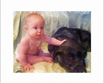 Custom - One of a Kind - Portrait Digital Painting - Art by ruby