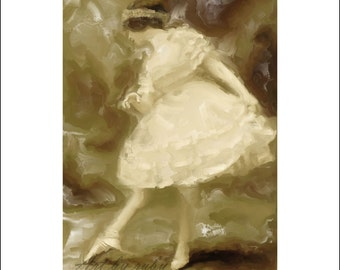 Digital Oil Painting - The Art Of Ballet - Art by ruby