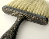 Boudoir Brush with Horsehair Bristles and Embellished Metal Handle