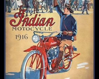 Vintage Indian Motocycle Refridgerator Magnet