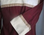 Custom Keyhole Tunic Shirt with Trim SCA Medieval Renaissance Faire LARP Pennsic