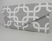 Envelope Clutch GOTCHA Lattice in Storm Gray & White