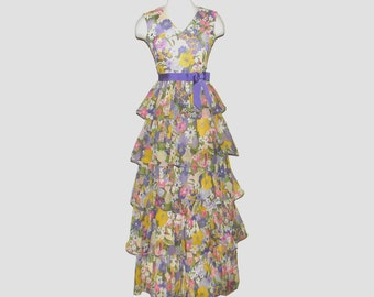 1960s dress / 60s dress / extra small xs / Spring Cotillion Dress