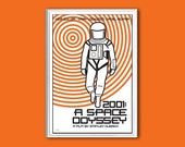 Film poster 2001- A Space Odyssey 12x18 inches retro print