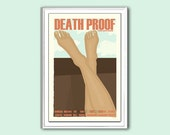 Film poster Death Proof 12x18 inches retro print