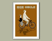 Movie poster Mon Oncle 12x18 inches retro print
