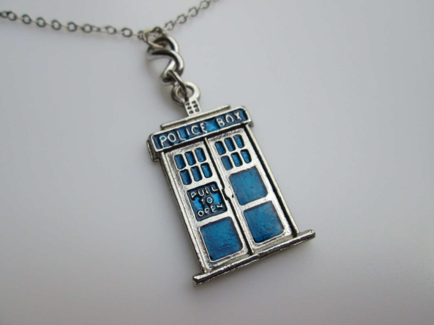 tardis necklace doctor who necklace inspired by doctor who