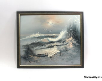 Fine Art Painting | Ocean Shore Scene | Signed by the Artist