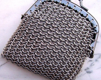 Stainless Steel Chainmaille Purse with Clasp