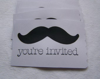 Mustache party invitations 18 cards