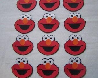 Elmo die cut party favors Sesame Street set of 12