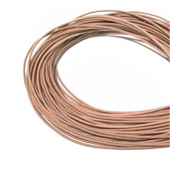 2mm Natural Greek Leather Cord 42155 (5 meters),  Jewelry Cording, Necklace Cord, Bracelet Cording, 2mm Cording, 2mm Leather Cord, Stringing