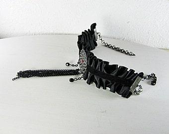 Steampunk Choker, Burlesque Necklace, Gothic Victorian, Steampunk Jewelry, Steampunk Wedding, Gothic Victorian, Handmade