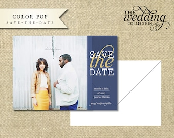 Color Pop,  Save-The-Date Printable or Printed Card