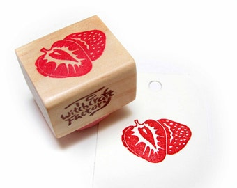 Strawberry, Hand Carved Rubber Stamp
