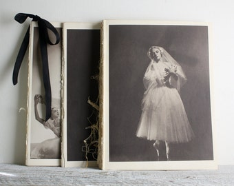 Vintage Ballerina Print - Book Plate - Alicia Markova - Giselle
