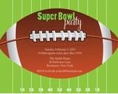 Super Bowl Football party invitation (set of 10)