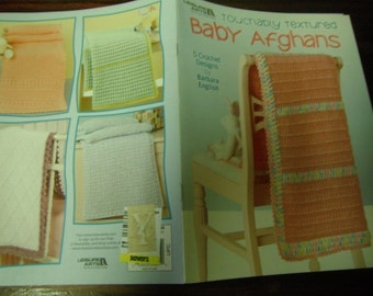 Baby Afghan Crocheting Patterns Touchably Textured Baby Afghans Leisure Arts 4641 Barbara English Crochet Pattern Leaflet