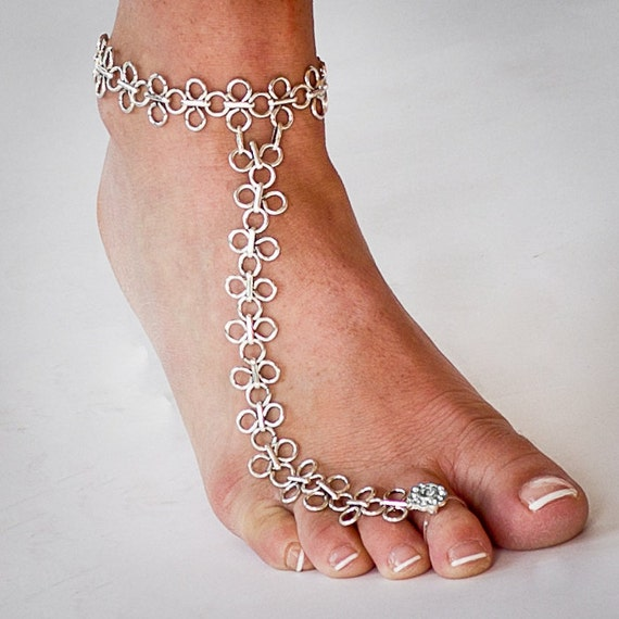 Items Similar To Chainmaille Barefoot Sandal Foot Jewelry
