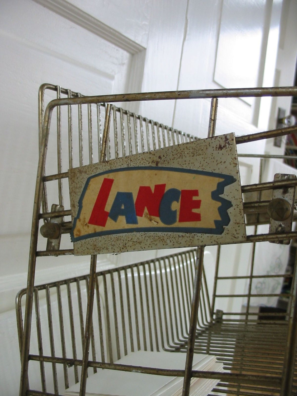 Vintage Wire Metal Shelf Rack Store Display Lance Candy