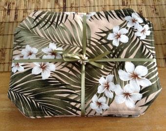 Plumeria & Palm placemat set of six (6) NO NAPKINS