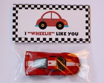 Schön Boy Personalized Car Valentine Bag Topper  I Wheelie Like You  Happy  Valentineu0027s Day