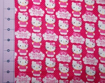 Pink Hello Kitty Cupcake Fabric By The Yard FBTY