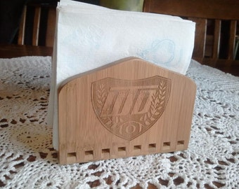 Win The Day- Laser Engraved Bamboo Napkin Holder  -
