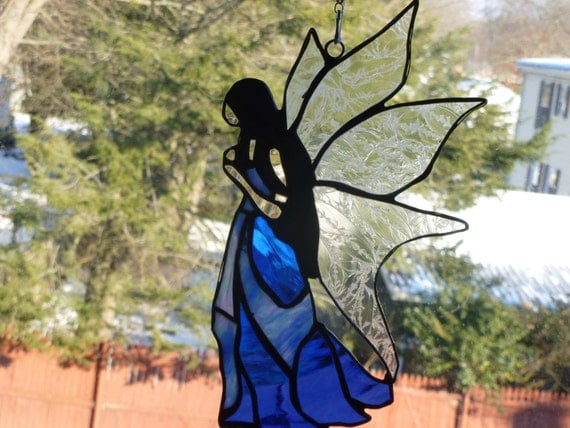 Fairie Fairy Vixen Stained Glass Medieval Renaissance
